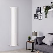 Milano Java - White Vertical Designer Radiator - 1600mm x 354mm
