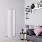 Milano Capri - White Flat Panel Vertical Designer Radiator - 1600mm x 472mm (Double Panel)
