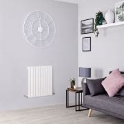 Milano Capri - White Flat Panel Horizontal Designer Radiator - 635mm x 600mm