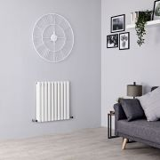 Milano Aruba - White Horizontal Designer Radiator - 635mm x 595mm (Double Panel)