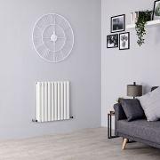 Milano Aruba - White Horizontal Designer Radiator - 635mm x 595mm (Double Panel)