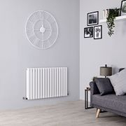 Milano Aruba - White Horizontal Designer Radiator - 635mm x 1000mm (Double Panel)