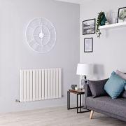 Milano Alpha - White Flat Panel Horizontal Designer Radiator - 635mm x 980mm