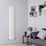 Milano Viti - White Diamond Panel Vertical Designer Radiator - 1600mm x 280mm (Double Panel)
