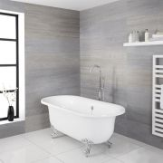 Milano Mellor - White Traditional Freestanding Bath with Choice of Feet - 1750mm x 790mm (No Tap-Holes)