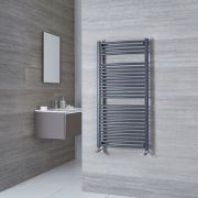 Milano Brook - Anthracite Flat Heated Towel Rail - 1200mm x 600mm