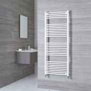 Milano Calder - White Curved Heated Towel Rail - 1500mm x 500mm