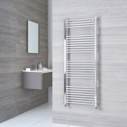 Milano Ribble - Chrome Flat Heated Towel Rail - 1500mm x 500mm