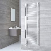 Milano Ribble Electric - Chrome Flat Heated Towel Rail - 1800mm x 500mm