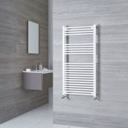 Milano Calder - White Flat Heated Towel Rail - 1200mm x 600mm