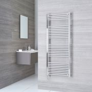 Milano Ribble Electric - Chrome Flat Heated Towel Rail - 1500mm x 600mm