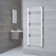 Milano Calder - White Flat Heated Towel Rail - 1500mm x 600mm