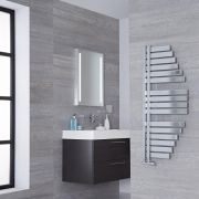 Lazzarini Way Spinnaker - Chrome Designer Heated Towel Rail - 1100mm x 483mm