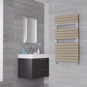 Lazzarini Way Torino - Mineral Quartz Designer Heated Towel Rail - 952mm x 550mm