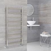 Milano Esk - Stainless Steel Flat Heated Towel Rail - 500mm x 1000mm
