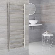 Milano Esk Electric - Electric Stainless Steel Flat Heated Towel Rail - 500mm x 1200mm