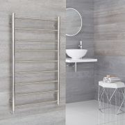 Milano Esk - Electric Stainless Steel Flat Heated Towel Rail - 600mm x 1000mm