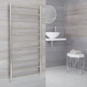 Milano Esk Electric - Stainless Steel Flat Heated Towel Rail - 600mm x 1200mm