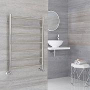Milano Esk - Stainless Steel Flat Heated Towel Rail - 600mm x 800mm