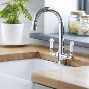 Milano Elizabeth - Traditional Kitchen Sink Mixer Tap Chrome