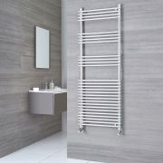 Kudox Harrogate - Chrome Flat Bar on Bar Heated Towel Rail - 1650mm x 600mm