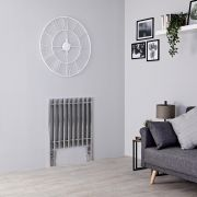 Kudox - Chrome Horizontal Designer Radiator - 800mm x 600mm