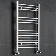 Kudox - Premium Chrome Curved Heated Towel Rail - 800mm x 500mm