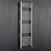 Kudox Ladder - Premium Chrome Curved Heated Towel Rail - 1500mm x 600mm