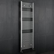 Kudox - Premium Chrome Curved Heated Towel Rail - 1800mm x 600mm