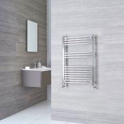 Kudox Ladder - Premium Chrome Flat Heated Towel Rail - 800mm x 500mm