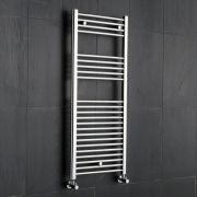 Kudox - Premium Chrome Flat Heated Towel Rail - 1200mm x 500mm
