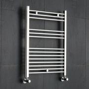 Kudox Ladder - Premium Chrome Flat Heated Towel Rail - 800mm x 600mm
