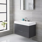 Milano Linley 900mm Vanity Unit Grey