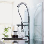Milano - Modern Deck Mounted Professional Kitchen Mixer Tap - Chrome