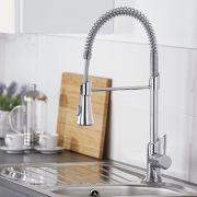 Milano - Modern Deck Mounted Pull Down Spray Kitchen Tap - Chrome