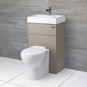 Milano Lurus - Stone Grey Modern Select Toilet and Basin Unit Combination - 500mm x 890mm