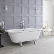 Premier - 1700 x 745mm Back to Wall Traditional Freestanding Bath