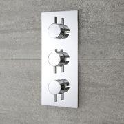 Milano Mirage - Round 3 Outlet Triple Diverter Thermostatic Shower Valve - Chrome