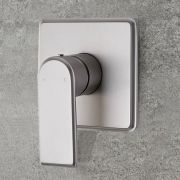 Milano Ashurst - Modern 1 Outlet Manual Shower Valve - Brushed Nickel