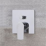 Milano Ashurst - Modern Manual Shower Valve - Two Outlets - Chrome