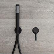 Milano Nero - Manual Shower Valve with Hand Shower - Black