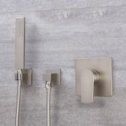 Milano Hunston - Manual Shower Valve with Square Hand Shower - Brushed Nickel