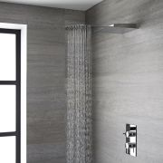 Milano - Modern 500mm Round Concealed Shower Head with Waterblade - Chrome