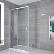Milano Portland Sliding Shower Door with Choice of End Panel