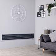 Milano Aruba Slim - Anthracite Space-Saving Horizontal Designer Radiator - 236mm x 1780mm
