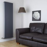 Milano Java - Anthracite Vertical Designer Radiator - 1780mm x 472mm