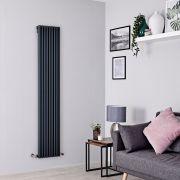 Milano Cayos - Anthracite Vertical Designer Radiator - 1780mm x 342mm