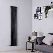 Milano Aruba - Black Vertical Designer Radiator - 1780mm x 354mm