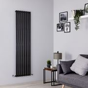 Milano Aruba - Black Vertical Designer Radiator - 1780mm x 472mm