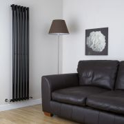 Milano Java - Black Vertical Designer Radiator - 1780mm x 360mm